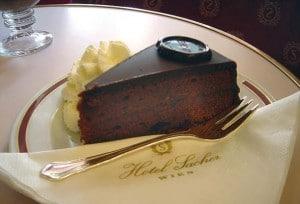 Sachter torte eet je natuurlijk bij Hotel Sacher in Wenen