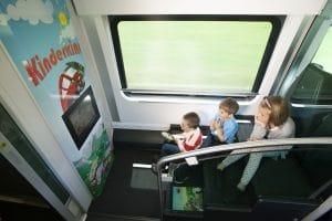 kinderafdeling in de trein in Oostenrijk