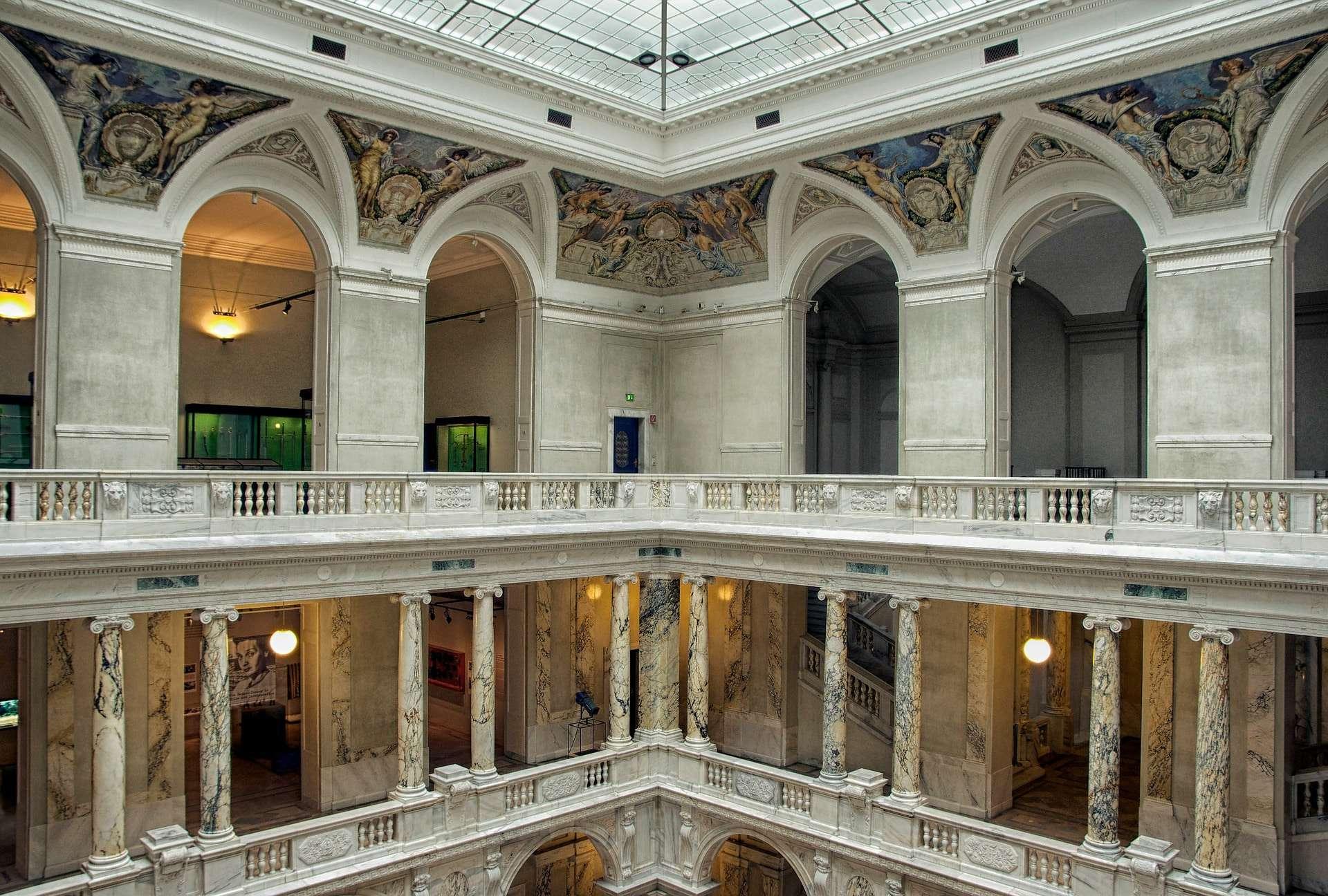 binnenkant van de Hofburg van Wenen