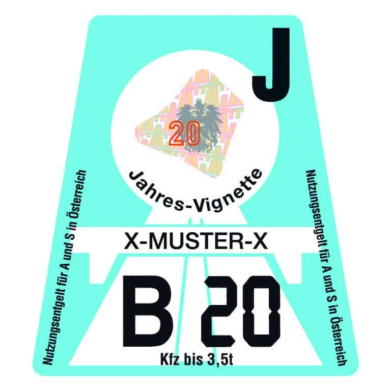 Oostenrijk vignet 2020