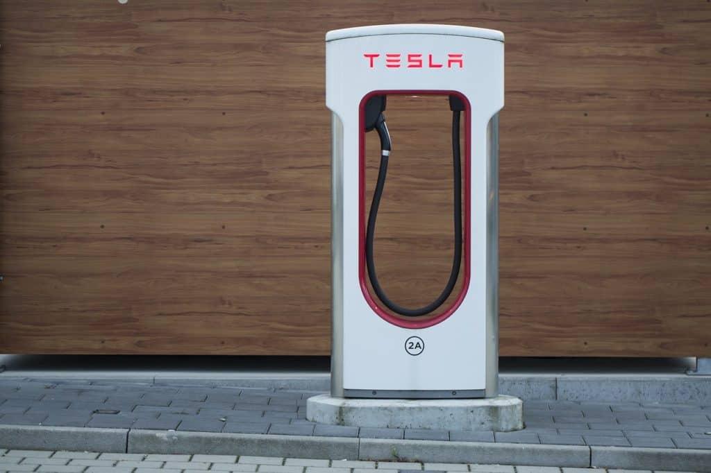Tesla oplaadpunt in Oostenrijk