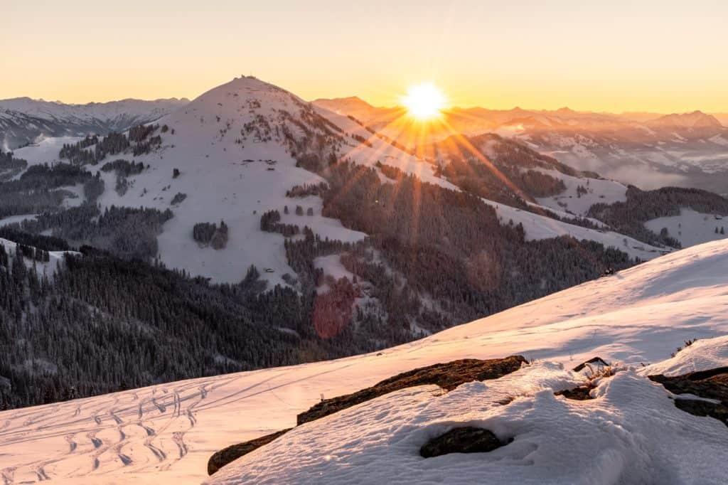 Wintersport in de Wilder Kaiser