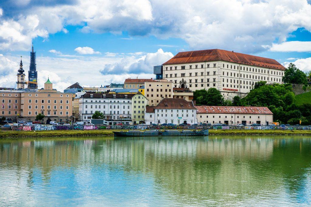 Linz één van de grote steden in Oostenrijk
