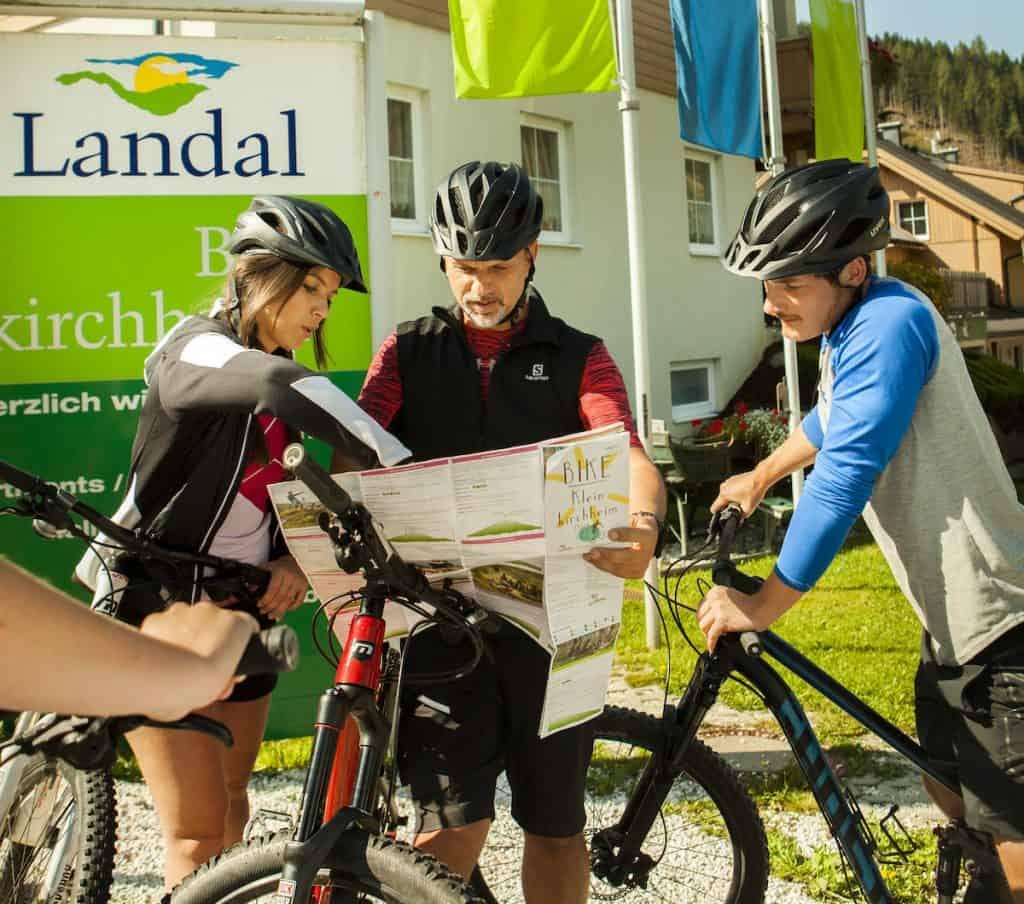 fietsen op Landal Bad kleinkirchheim in de zomer
