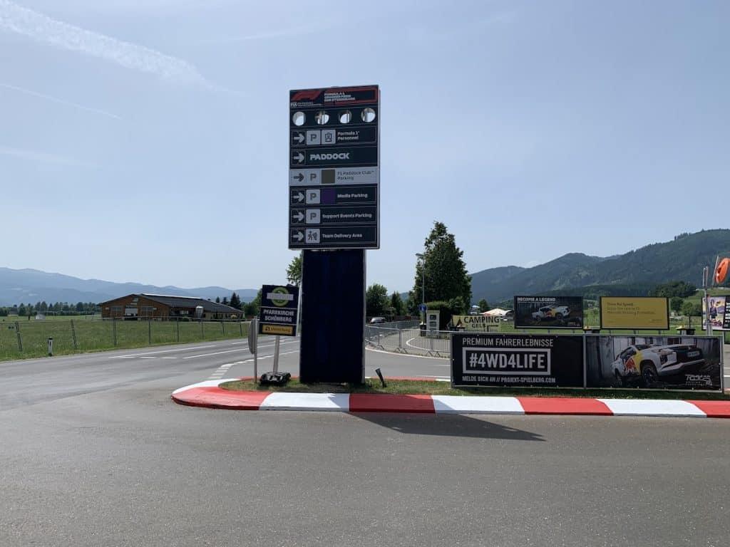 Wegwijzer F1 Oostenrijk